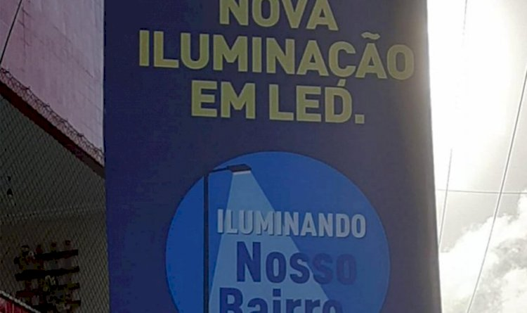 Pau da Lima recebe iluminação de LED.