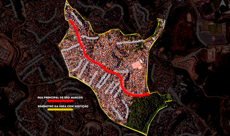 Conseguimos mais informações sobre as medidas restritivas em São Marcos e o mapeamento da área.