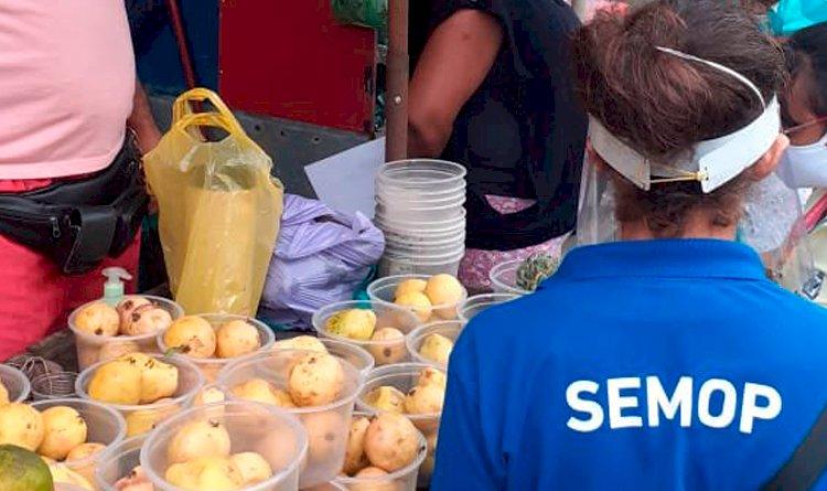 SEMOP cadastra ambulantes  trabalhadores informais no bairro de São Marcos.