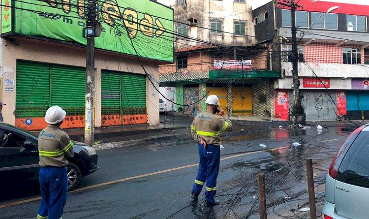RESUMO: Postes que pegaram fogo em São Marcos.