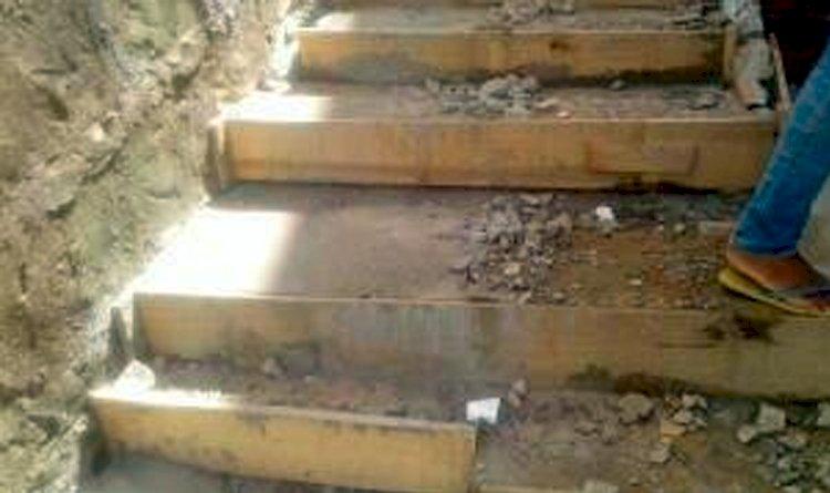 Denúncia – Empresa contratada pela Prefeitura de Salvador reformou escadaria da Rua Coração de Maria, e não instalou sistema de drenagem.
