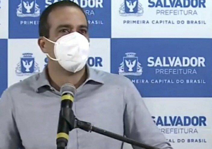 Prefeito Bruno Reis pede ajuda da populacão para conter covid-19 e não descarta novas medidas protetivas.